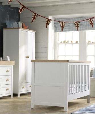 nursery furniture sets mothercare lulworth 3-piece nursery furniture set - classic white GDXCWTB