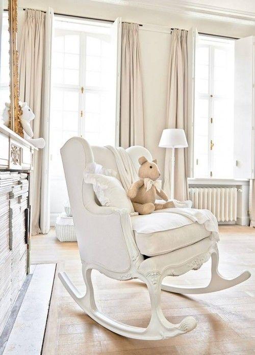 nursery rocking chair creamy white baby nursery with romantic shabby chic decor. rocking chair ... ZBEYMIK