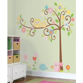nursery wall decals scroll tree megapack peel u0026 stick wall decal ... VSSPDXW