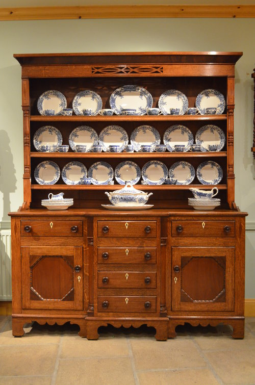 oak and mahogany welsh dresser ... LBPNLLW