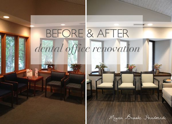 office decor before u0026 after dental office renovation- megan brooke handmade OVITSQC