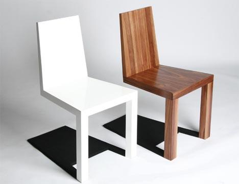 optical illusion furniture: creepy shadow chair design PKFQFXO