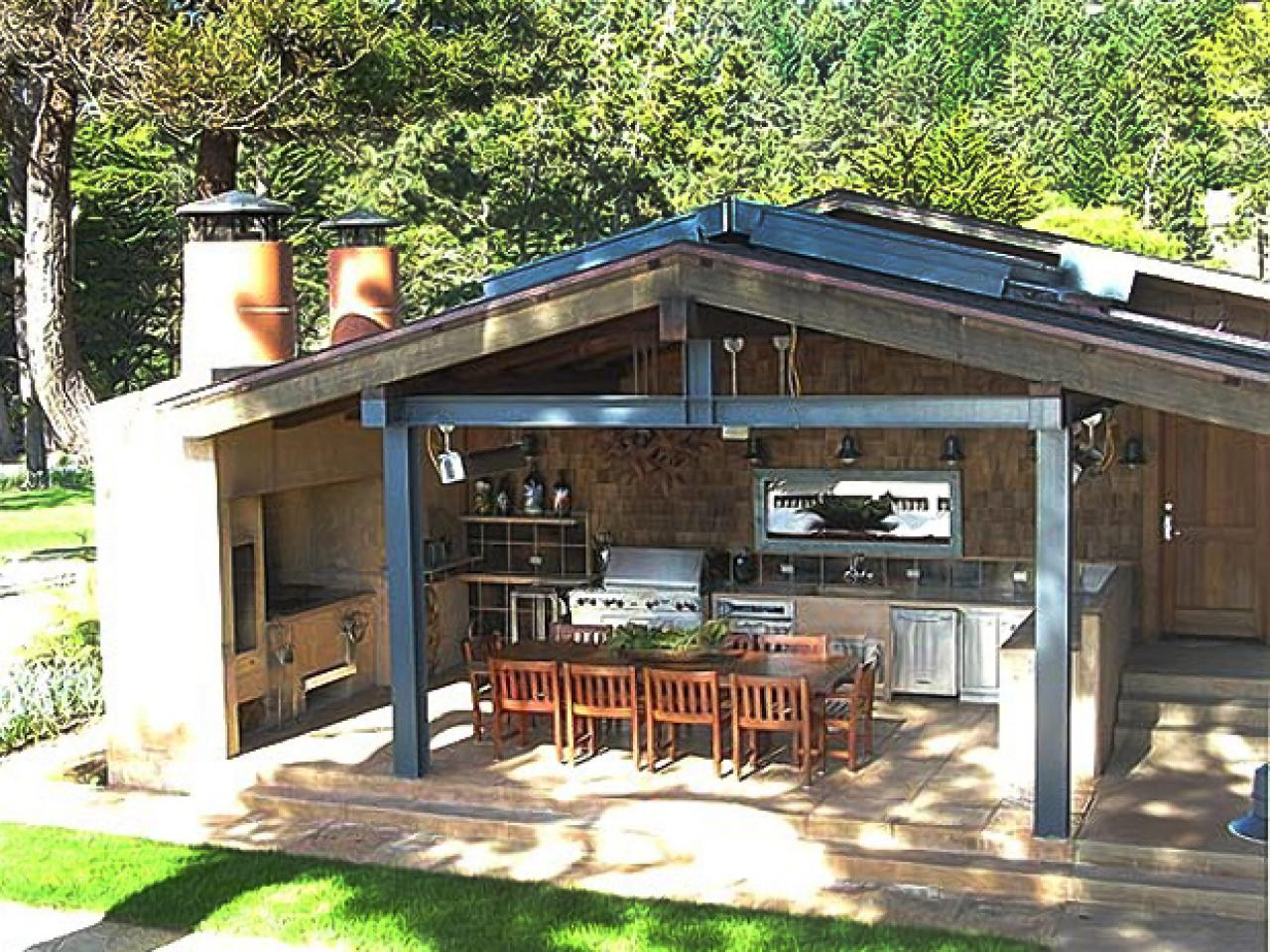 outdoor kitchen ideas lakeside outdoor eating area SVESJHD