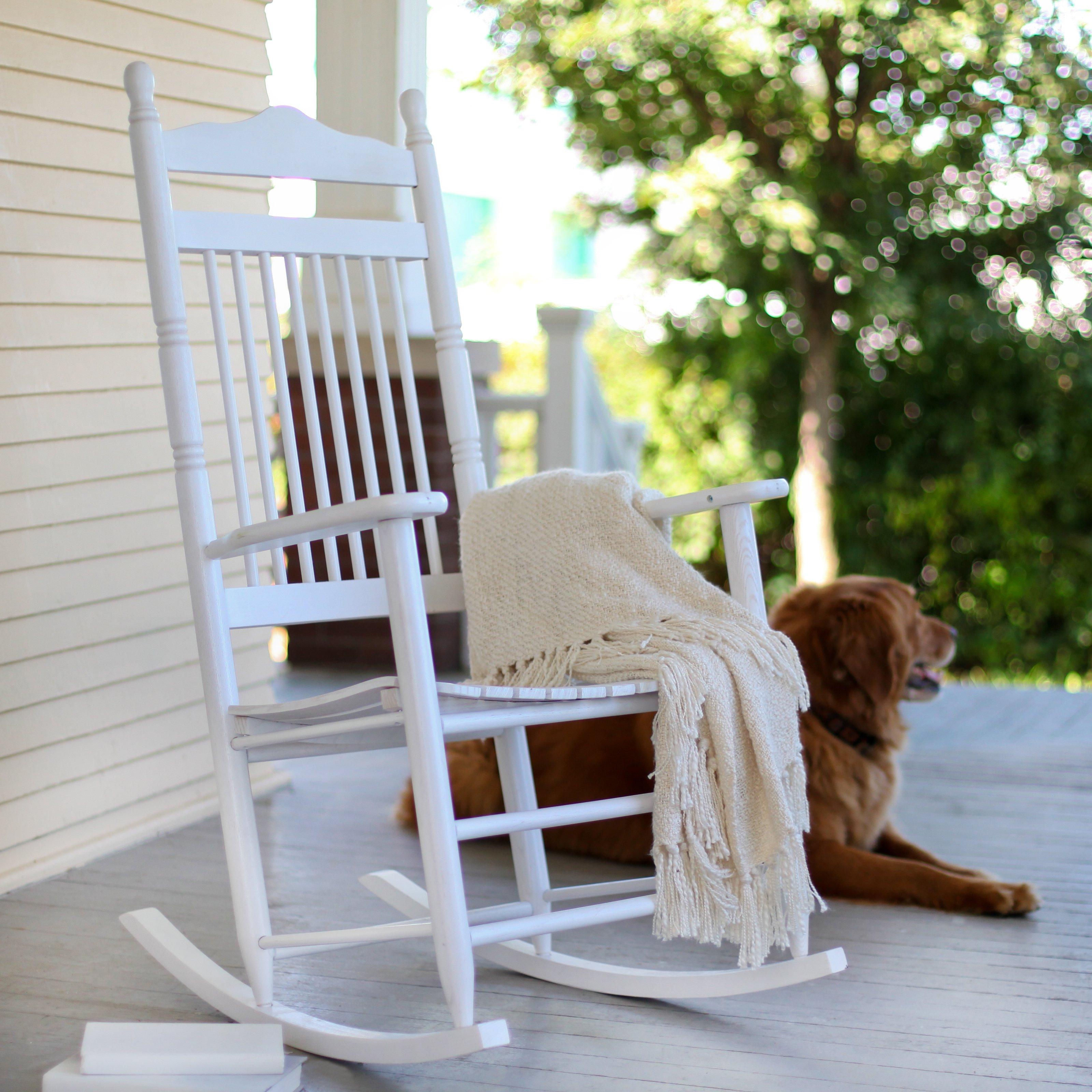 outdoor rocking chairs coral coast indoor/outdoor mission slat rocking chair - white - outdoor  rocking BRYAHTC
