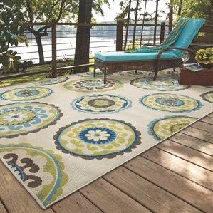 outdoor rugs capri beige/green indoor/outdoor area rug YPWOLZB
