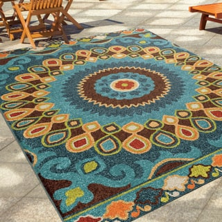 outdoor rugs carolina weavers indoor/outdoor santa barbara collection bangkok multi area  rug (5u00272 LATMKGF
