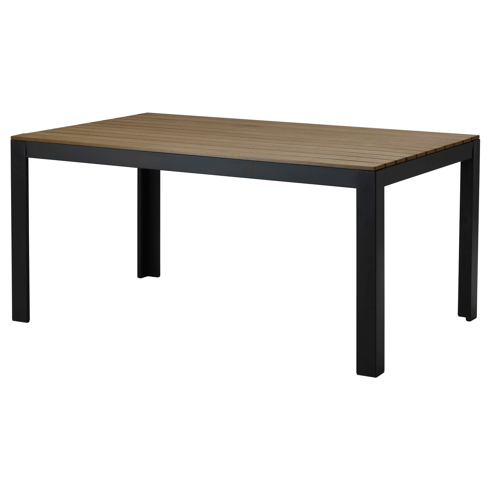 outdoor table falster table, outdoor - black/brown - ikea RLYPZHC