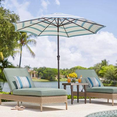 Outdoor umbrella and wind/sun shields:
