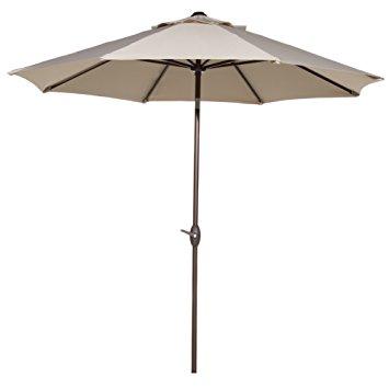 outdoor umbrella abba patio 9u0027 patio umbrella outdoor table market umbrella with push button NJMMZUV