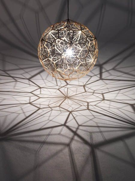 pendant light by tom dixon, etch web lamp, unique lighting design ZWCJGDU