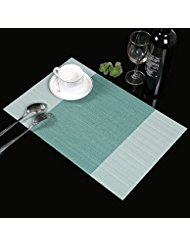 place mats,famibay heat insulation pvc placemats stain-resistant crossweave  woven table mats for EIJYOHE