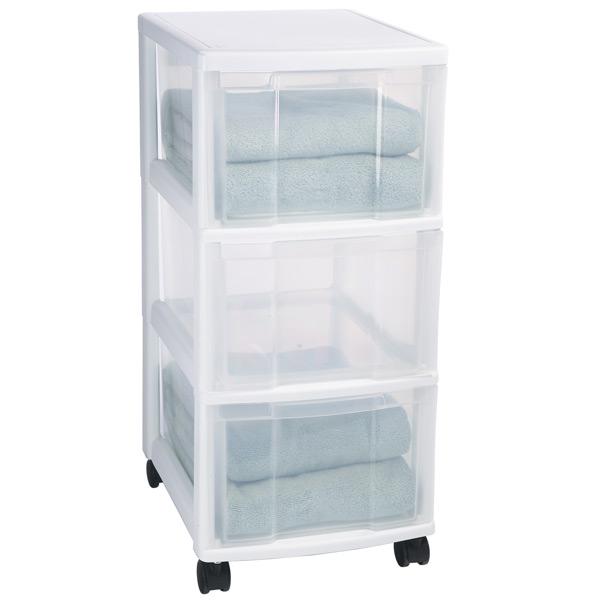 plastic storage drawers 3-drawer storage chest CGUJUNA