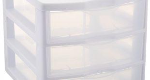 plastic storage drawers amazon.com: sterilite clearview 3 storage drawer organizer: home u0026 kitchen GFXEBLJ