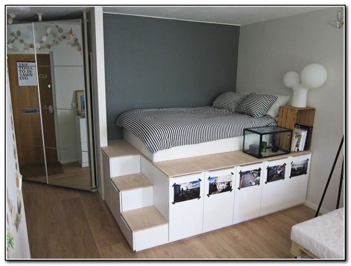 platform bed with storage loft bed with stairs plans free - beds : home furniture design . GZGWHNY