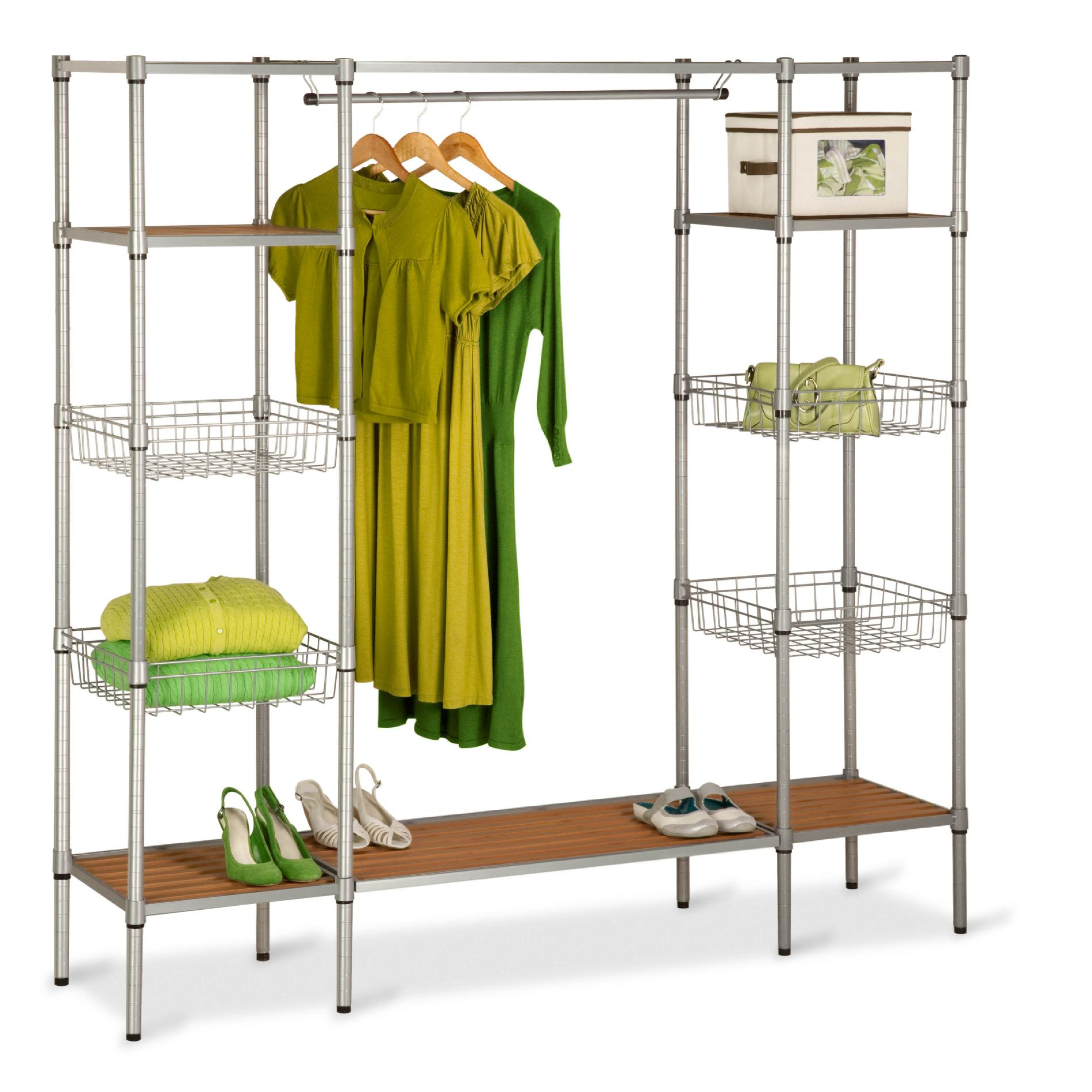 portable closet honey can do honey-can-do wrd-02350 freestanding steel closet system with XVIHACF