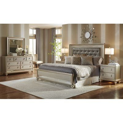 queen bedroom sets champagne 6-piece queen bedroom set - diva QGYMGXZ