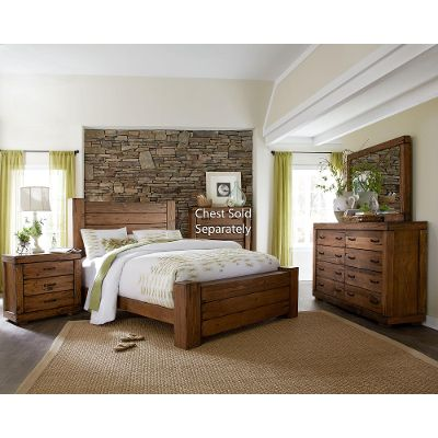 queen bedroom sets driftwood pine 6-piece queen bedroom set - maverick LZFUXXC