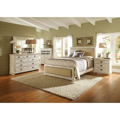 queen bedroom sets willow 6-piece queen bedroom set ZRPJPGG