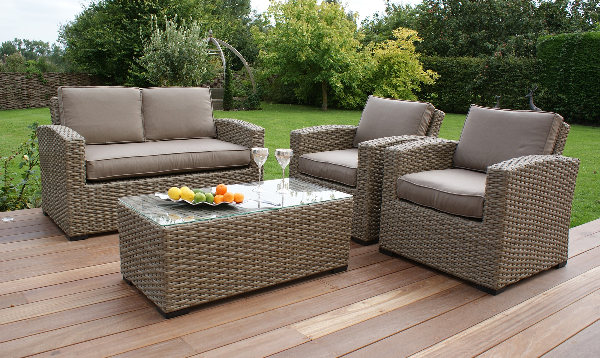 rattan garden furniture antilles - 2 seat sofa natural rattan garden set . NITAHDN