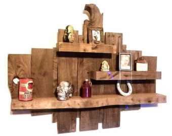 raw wood shelf - reclaimed wood shelves - rustic wooden shelves - pallet DGUKSDU