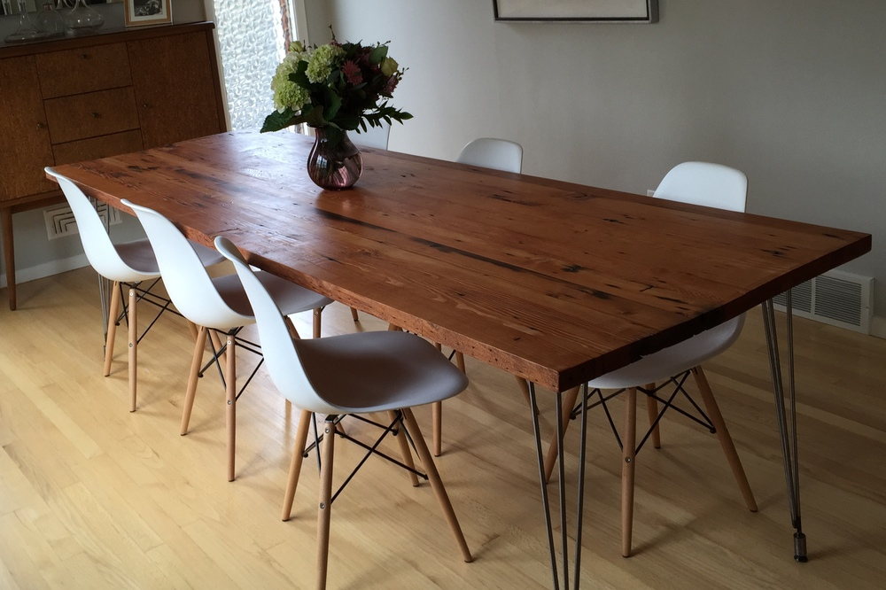 reclaimed wood dining table burnside reclaimed douglas fir dining table - stumptown reclaimed | reclaimed  wood WUNYKZQ