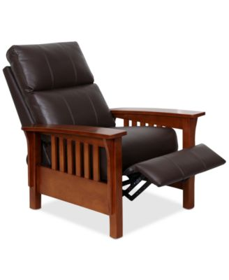recliner chairs harrison leather pushback recliner WXKERKX