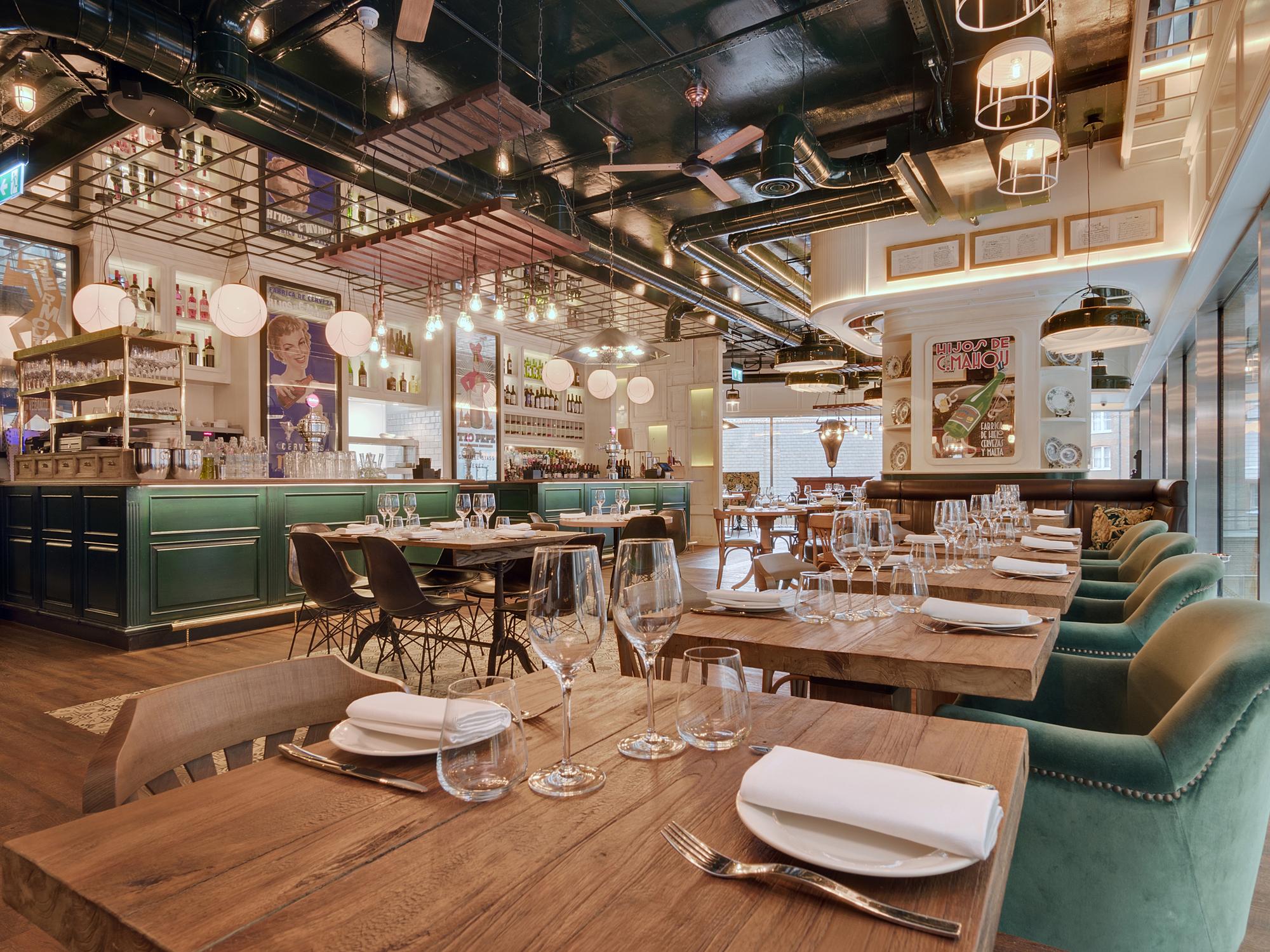 restaurant design iberica (victoria, london, uk) / lazaro rosa violan studio . image courtesy LBDDFGX