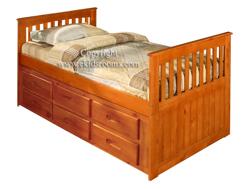 ridgeline twin captains bed with six drawers kids bedroom furniture captain  beds RHNVQMI