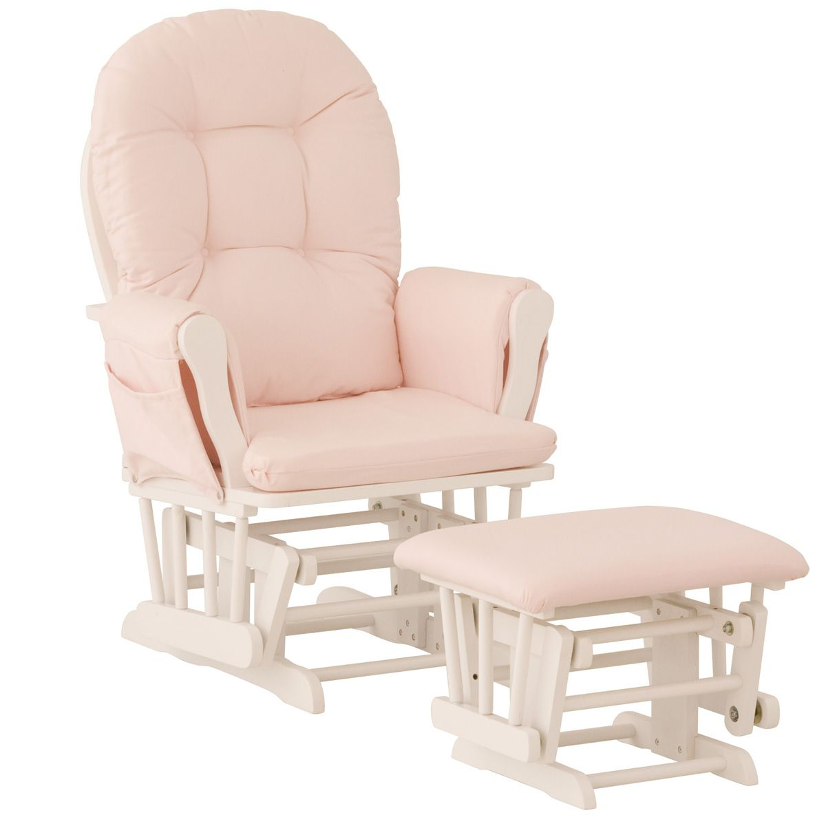 rocking chair for nursery storkcraft hoop glider u0026 ottoman - white/pink DKNFUMZ