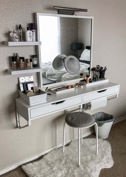 room decor ideas 21 photos of how real people store their makeup LRPPTUJ