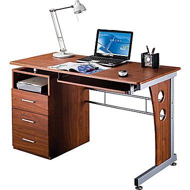 rta products techni mobili computer desk with storage, mahogany  (rta-3520-m615 ZHWKRKC