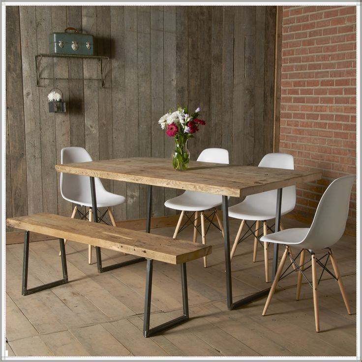 rustic dining table industrial reclaimed table | modern rustic furniture| recycled| dining TCQAYEO