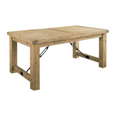 rustic dining table modus furniture international inc - autumn solid wood extension table - dining CXDBUTE