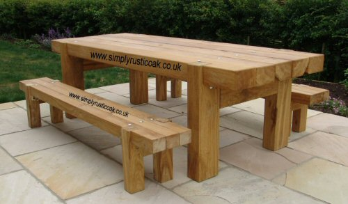 rustic-garden-table garden table: magnificent and cute PDXMBCL