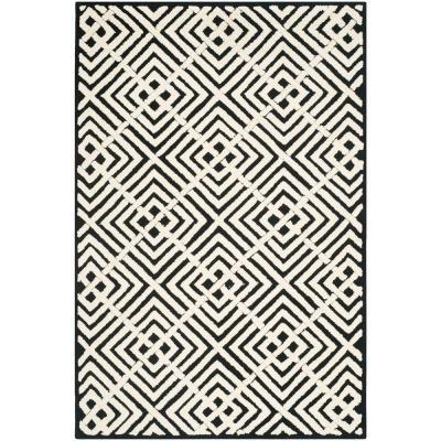 safavieh newport black and white rug - this is our bliss DHENHGR