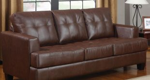 samuel brown leather sofa bed samuel brown leather sofa bed ... XXXCJBK