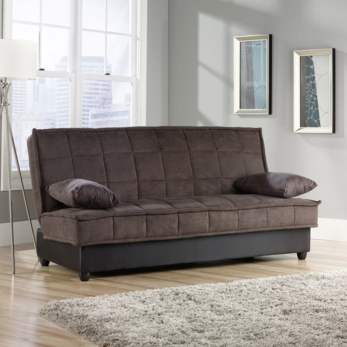 sauder bayshore convertible sofa, chocolate LUJAKSQ