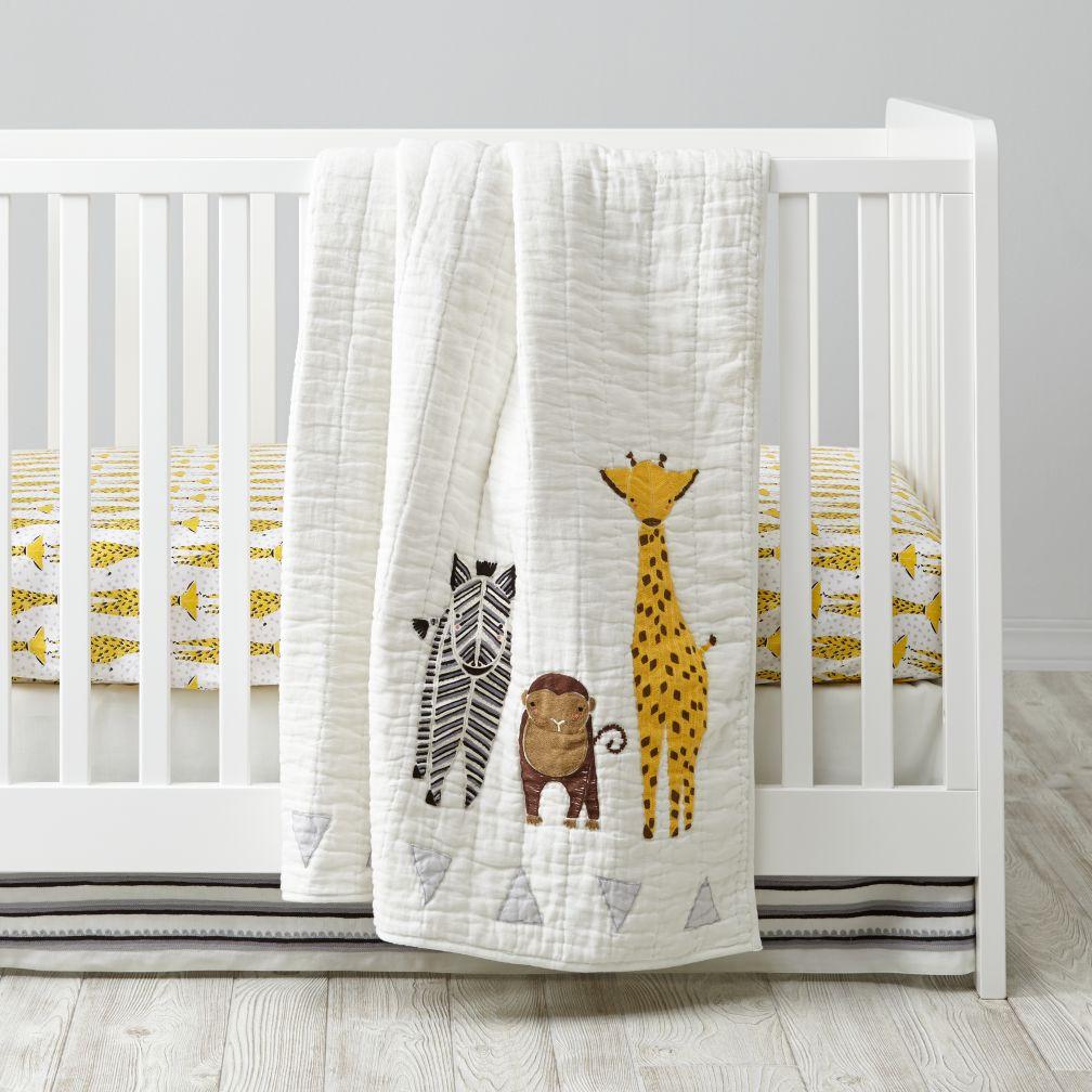 savanna safari crib bedding | the land of nod JKCQZPS