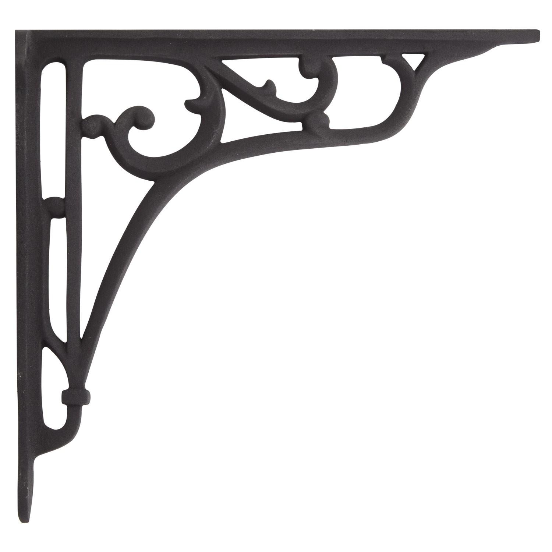 shelf brackets whorl cast iron shelf bracket - black powder coat INWVUQJ