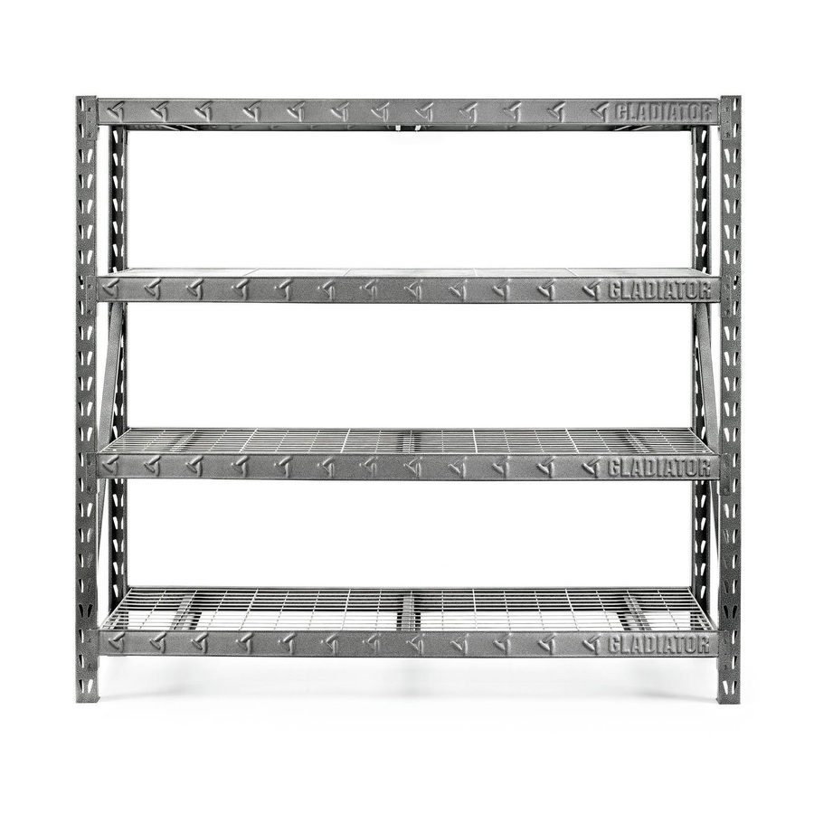 shelving units gladiator 72-in h x 77-in w x 24-in d steel TPVKLBR