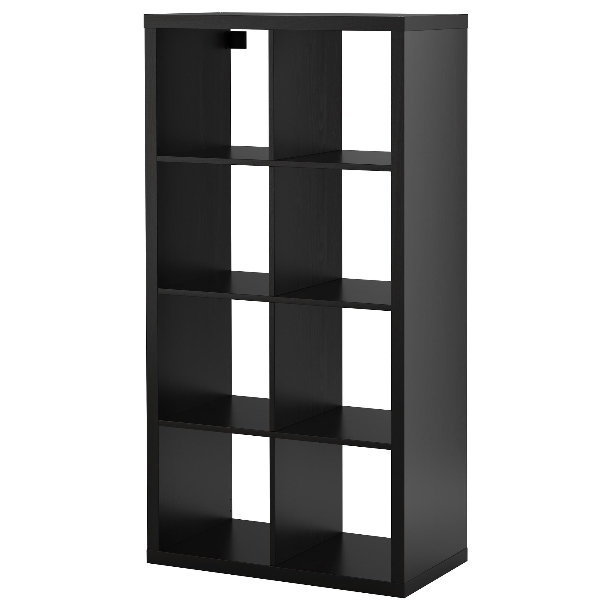 shelving units kallax shelf unit - black-brown - ikea YTIDSHV