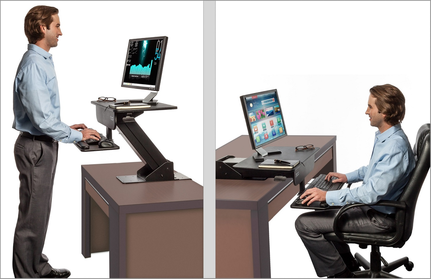 sit stand desk adjustable height gas spring easy lift standing desk sit-stand up desk  computer LZSQZPH