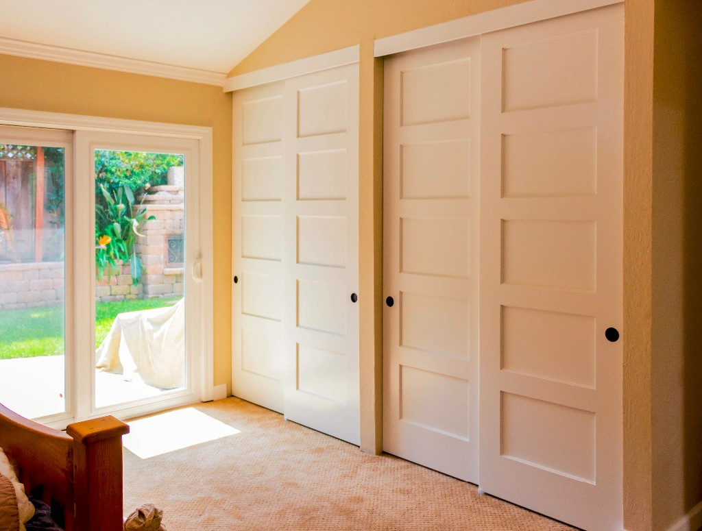 sliding closet doors bypass closet doors | cambridge bypass closet door maple 5 panel shaker UUZWQZX