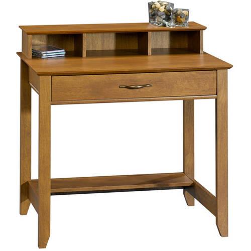 small desk mainstays cardinal hill writing desk, hazelwood FRWJQTY