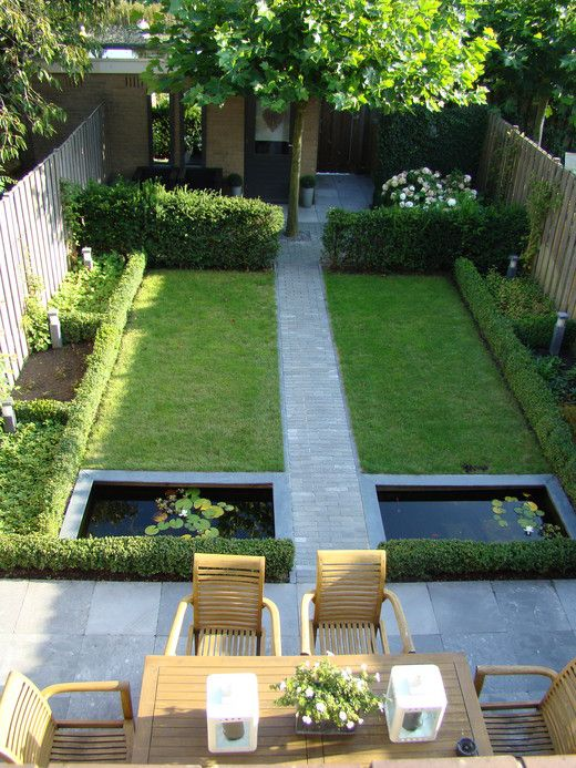 small garden design this is similar to my yard... in that it is long and narrow. IPZLQVE