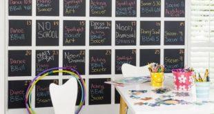 smart chalkboard home office decor ideas RLZBJFO