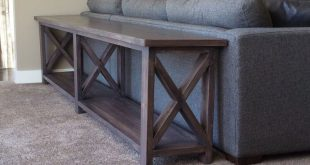 sofa table ana white | extra long, no middle shelf rustic x console - diy LHCOCQX
