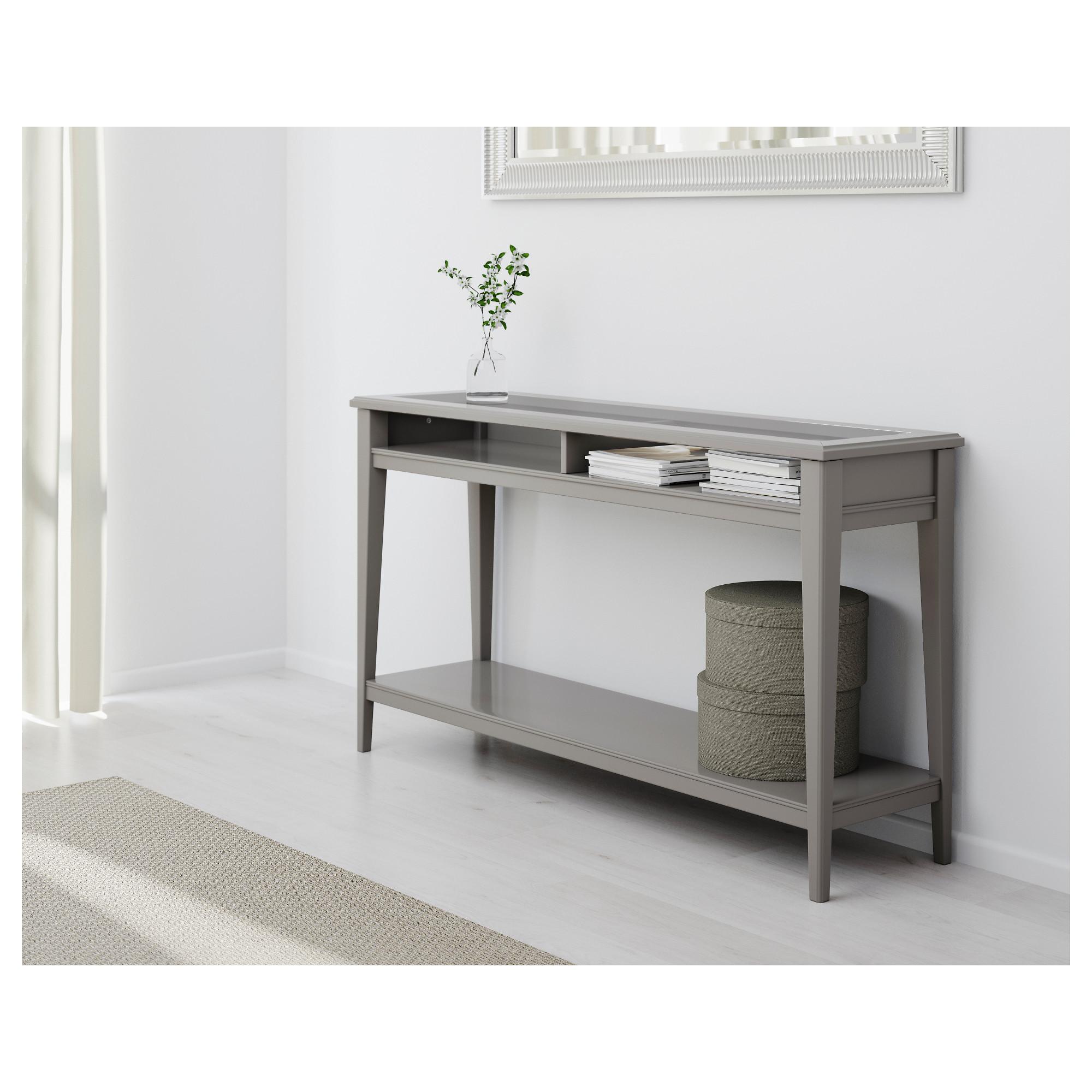 sofa table liatorp console table - white/glass - ikea ELPSXFD