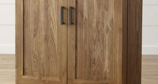 solid wood furniture marin natural bar cabinet XNWIAFM