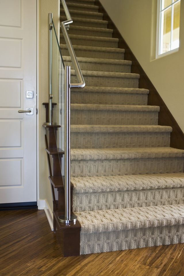 stair carpet 8 modern staircases featuring carpet: contemporary basketweave pattern PEWTVWK